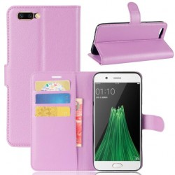 Protection Etui Portefeuille Cuir Violet Oppo R11