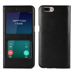 Etui Protection S-View Cover Noir Pour Oppo R11 Plus