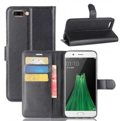 Oppo R11 Plus Black Wallet Case