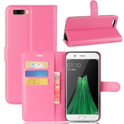 Protection Etui Portefeuille Cuir Rose Oppo R11 Plus