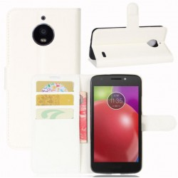 Motorola Moto E4 White Wallet Case