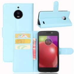 Motorola Moto E4 Blue Wallet Case