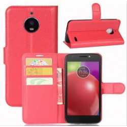 Motorola Moto E4 Red Wallet Case