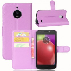 Motorola Moto E4 Purple Wallet Case