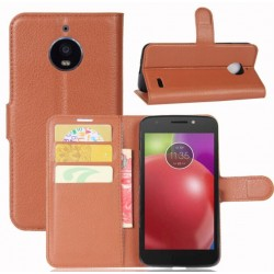 Motorola Moto E4 Brown Wallet Case