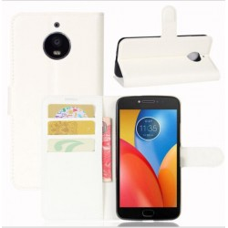 Motorola Moto E4 Plus White Wallet Case