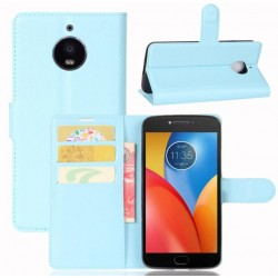 Motorola Moto E4 Plus Blue Wallet Case