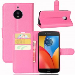 Motorola Moto E4 Plus Pink Wallet Case