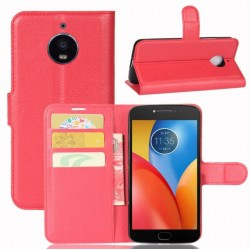 Motorola Moto E4 Plus Red Wallet Case