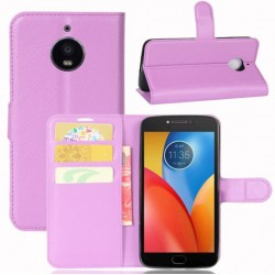 Motorola Moto E4 Plus Purple Wallet Case