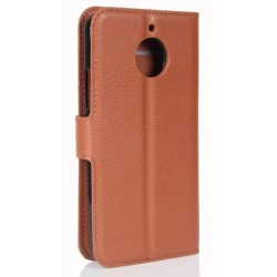 Motorola Moto E4 Plus Brown Wallet Case
