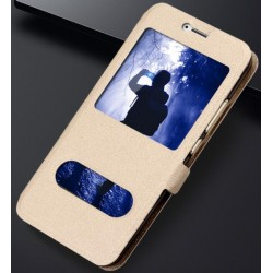 Gold S-view Flip Case For Huawei Honor 6A