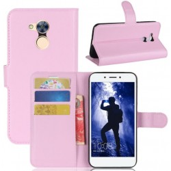 Protection Etui Portefeuille Cuir Rose Huawei Honor 6A