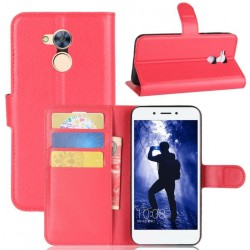 Protection Etui Portefeuille Cuir Rouge Huawei Honor 6A