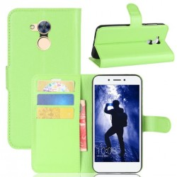 Protection Etui Portefeuille Cuir Vert Huawei Honor 6A