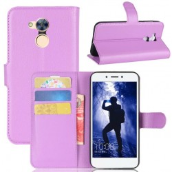 Protection Etui Portefeuille Cuir Violet Huawei Honor 6A