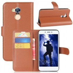 Protection Etui Portefeuille Cuir Marron Huawei Honor 6A