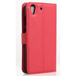 Protection Etui Portefeuille Cuir Rouge Huawei Y6II Compact