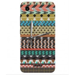 ZTE Blade A601 Mexican Embroidery With Clock Cover
