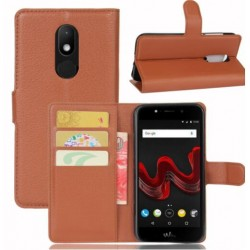 Wiko Wim Lite Brown Wallet Case
