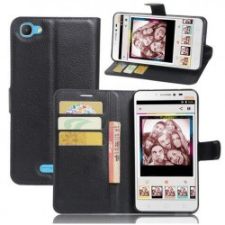 Alcatel Pixi 4 Plus Power Black Wallet Case