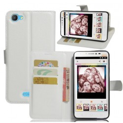 Alcatel Pixi 4 Plus Power White Wallet Case