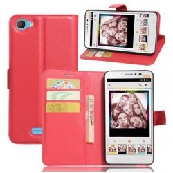 Alcatel Pixi 4 Plus Power Red Wallet Case