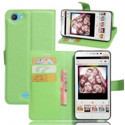Funda Con Tarjetero Para Alcatel Pixi 4 Plus Power - Verde