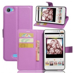 Alcatel Pixi 4 Plus Power Purple Wallet Case