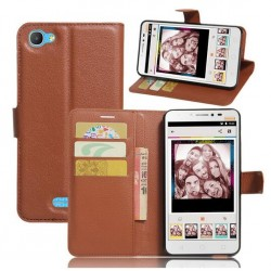 Alcatel Pixi 4 Plus Power Brown Wallet Case