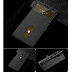 Black S-view Flip Case For Lenovo Phab 2 Plus