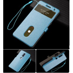 Etui Protection S-View Cover Bleu Pour Lenovo Phab 2 Plus