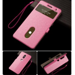 Etui Protection S-View Cover Rose Pour Lenovo Phab 2 Plus
