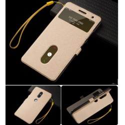 Gold S-view Flip Case For Lenovo Phab 2 Plus