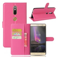 Protection Etui Portefeuille Cuir Rose Lenovo Phab 2 Plus