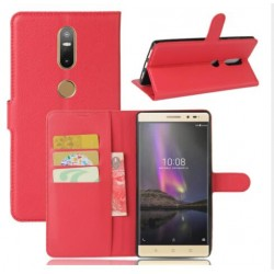 Protection Etui Portefeuille Cuir Rouge Lenovo Phab 2 Plus