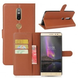 Protection Etui Portefeuille Cuir Marron Lenovo Phab 2 Plus
