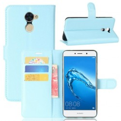 Protection Etui Portefeuille Cuir Bleu Huawei Y7 Prime