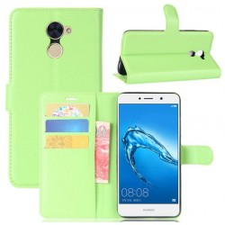 Protection Etui Portefeuille Cuir Vert Huawei Y7 Prime
