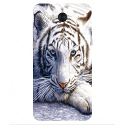 Coque Protection Tigre Blanc Pour Huawei Y6 2017