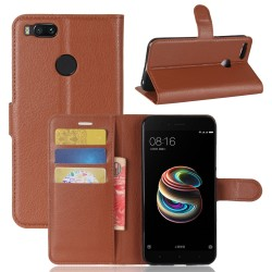 Xiaomi Mi 5X Brown Wallet Case