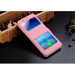 Pink S-view Flip Case For Xiaomi Mi 5X