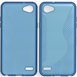 Blue Silicone Protective Case LG Q6