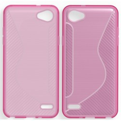 Pink Silicone Protective Case LG Q6