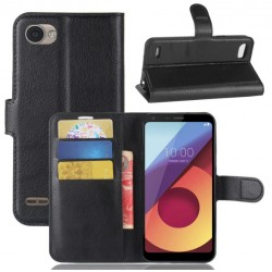 LG Q6 Black Wallet Case