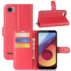 LG Q6 Red Wallet Case