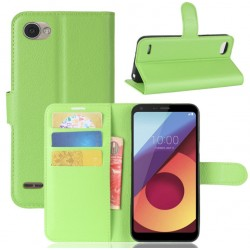 LG Q6 Green Wallet Case