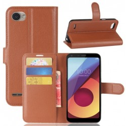 LG Q6 Brown Wallet Case