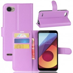 LG Q6 Purple Wallet Case