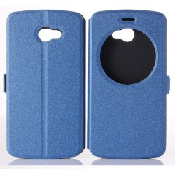 Blue S-view Flip Case For LG K5
